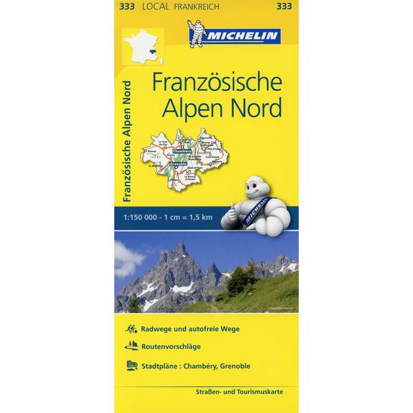 Michelin Französische Alpen Nord - Straßenkarte