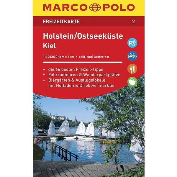 MARCO POLO Freizeitkarte 02 Holstein, Ostseeküste, Kiel 1 : 100 000 - Straßenkarte