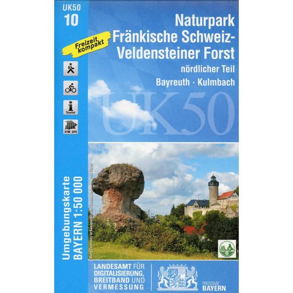 Naturpark Fränkische Schweiz-Veldensteiner Forst, nördl.Teil  1 : 50.000 (UK50-10) - Wanderkarte