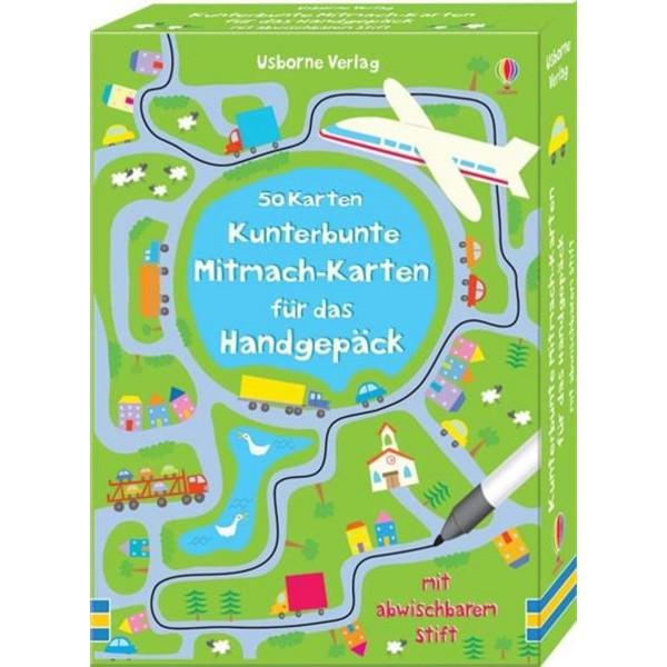 KUNTERBUNTE MITMACH-KARTEN FÜR DAS HANDGEPÄCK - Reisespiele