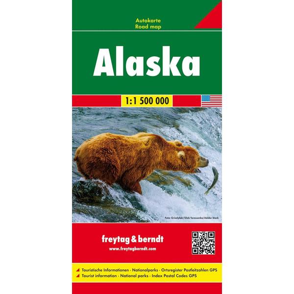 F+B ALASKA, AUTOKARTE 1:1 500 000 - Straßenkarte