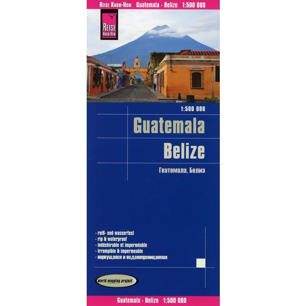 Reise Know-How Landkarte Guatemala, Belize 1 : 500 000 - Straßenkarte