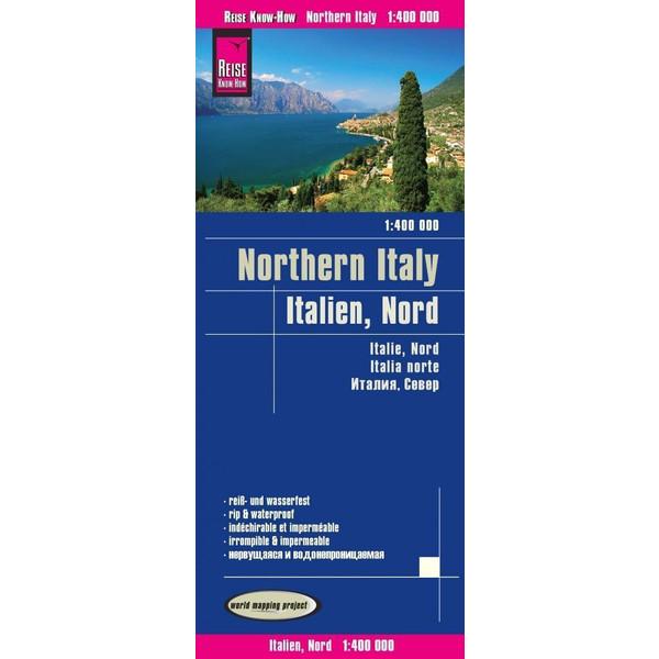 Reise Know-How Landkarte Italien, Nord 1 : 400.000 - Wanderkarte