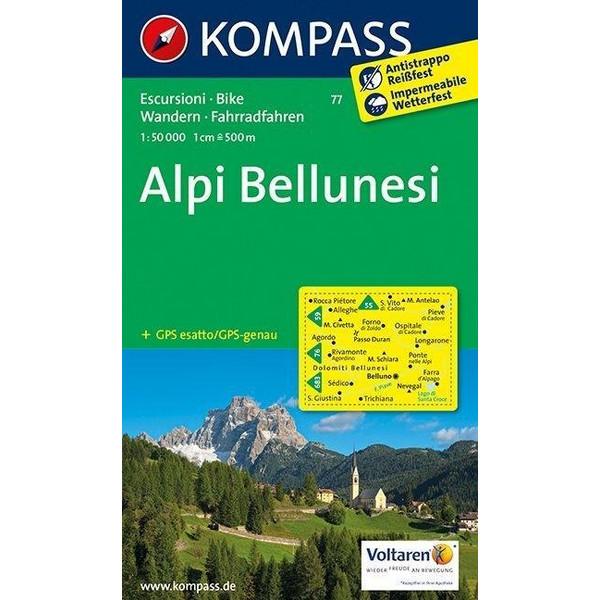 Alpi Bellunesi 1 : 50 000 - Wanderkarte