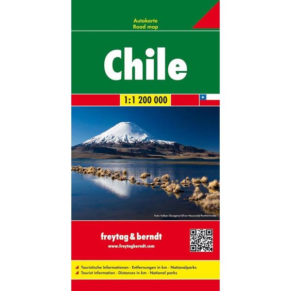 Chile 1 : 1 200 000 - Straßenkarte