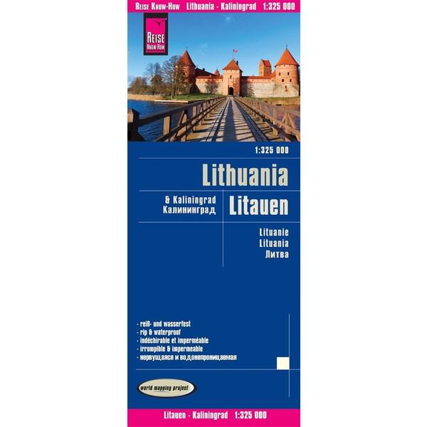 Reise Know-How Landkarte Litauen und Kaliningrad 1 : 325.000 - Straßenkarte