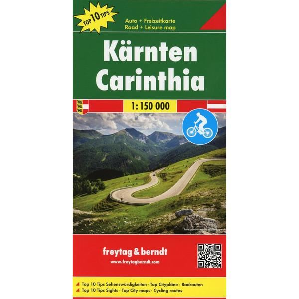 Kärnten, Top 10 Tips, Autokarte 1:150.000 - Straßenkarte