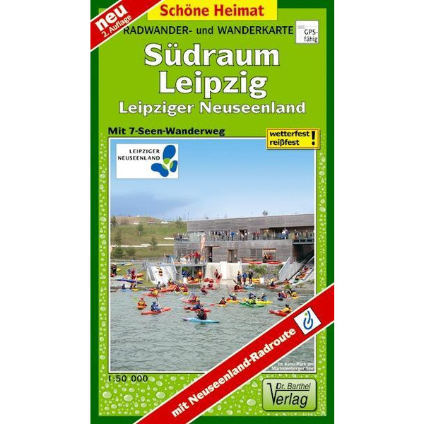 Radwander- und Wanderkarte Südraum Leipzig 1 : 50 000 - Wanderkarte