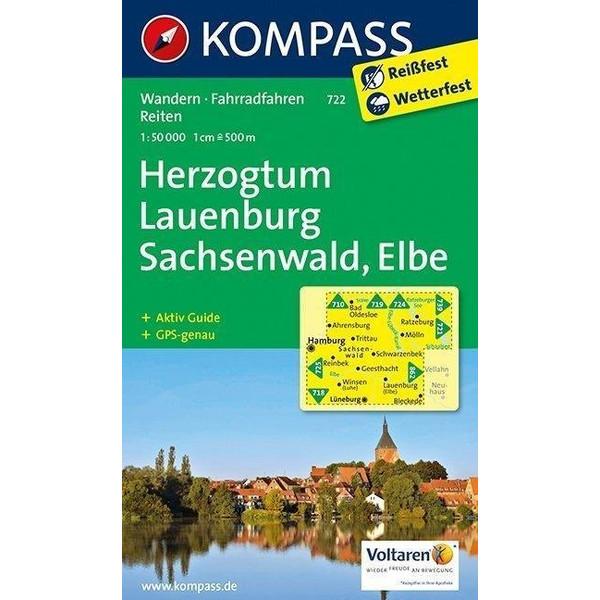 Herzogtum Lauenburg - Sachsenwald - Elbe 1 : 50 000 - Wanderkarte