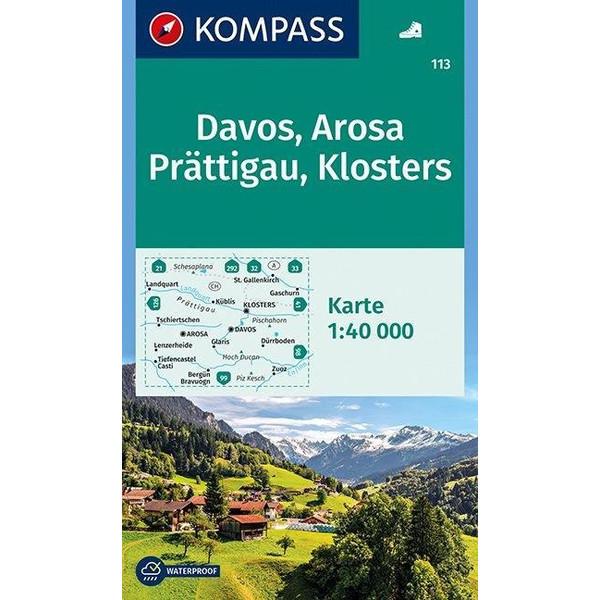 Davos - Arosa - Prättigau - Klosters 1 : 40 000 - Wanderkarte