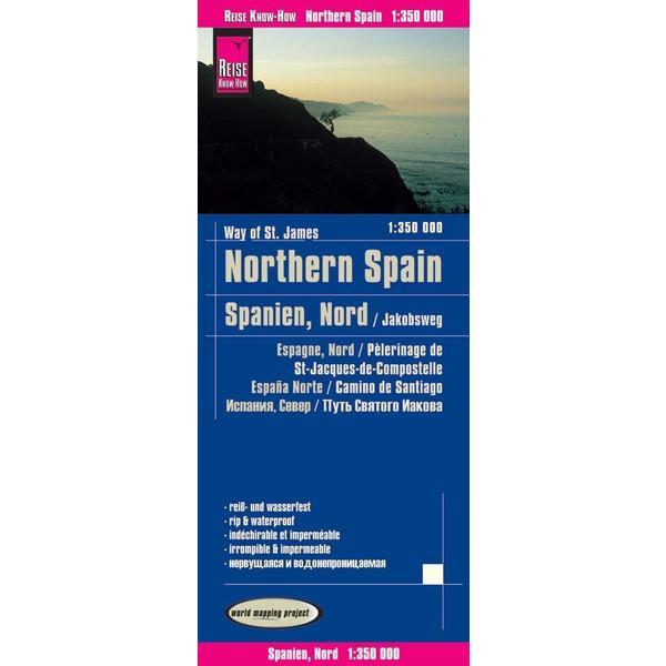 Reise Know-How Landkarte Spanien Nord/Jakobsweg 1 : 350.000 - Straßenkarte