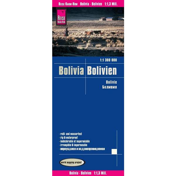 Reise Know-How Landkarte Bolivien / Bolivia 1:1.300.000 - Wanderkarte