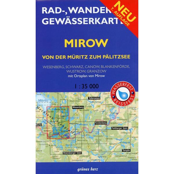 Mirow - von der Müritz zum Pälitzsee 1 : 35 000 Rad-, Wander- und Gewässerkarte