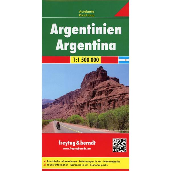 Argentinien Autokarte 1 : 1 500 000 - Straßenkarte