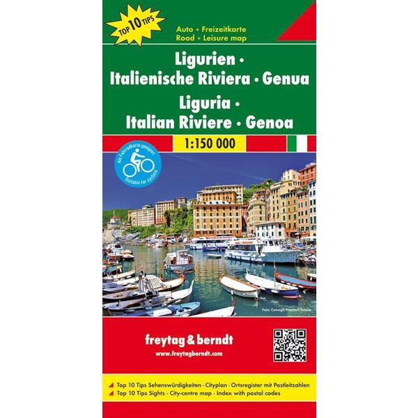 Ligurien - Italienische Riviera - Genua 1 : 150 000 - Straßenkarte
