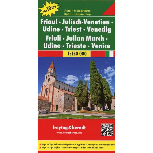 Friaul - Julisch-Venetien - Udine - Triest - Venedig 1 : 150 000 - Straßenkarte