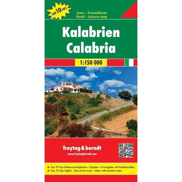 Kalabrien 1 : 150 000 - Straßenkarte