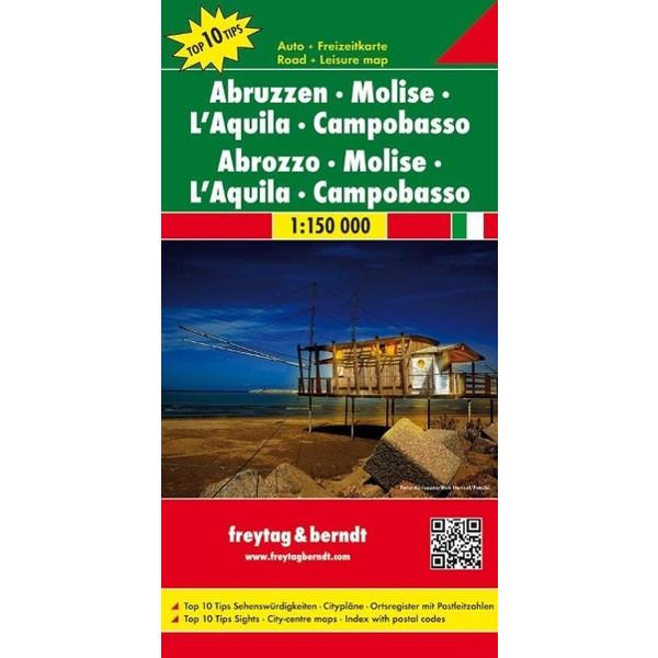 Abruzzen - Molise - L'Aquila - Campobasso 1 : 150 000 - Straßenkarte
