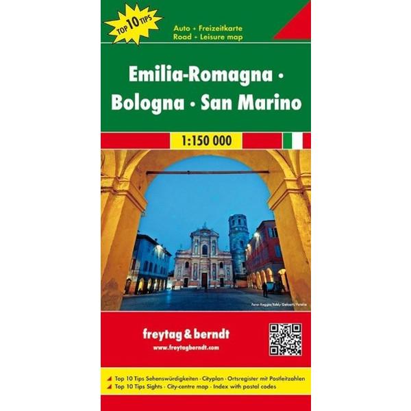 Emilia - Romagna - Bologna 1 : 150 000 - Straßenkarte
