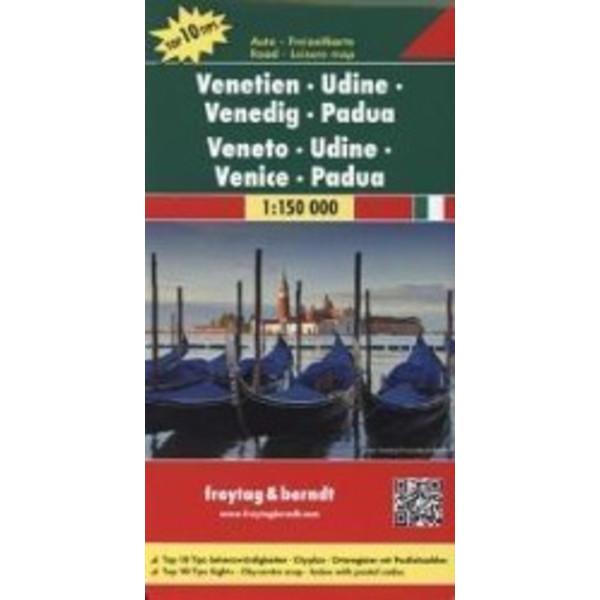 Venetien - Udine - Venedig - Padua 1 : 150 000 - Straßenkarte