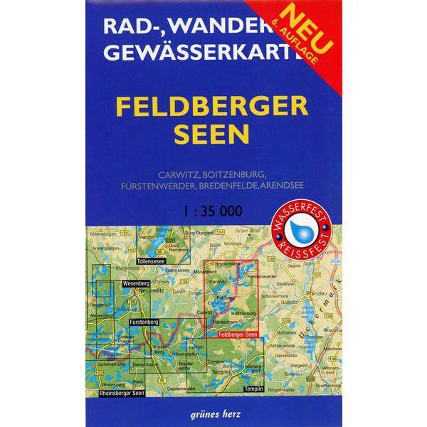 Feldberger Seen 1 : 35 000 Rad-, Wander- und Gewässerkarte - Fahrradkarte