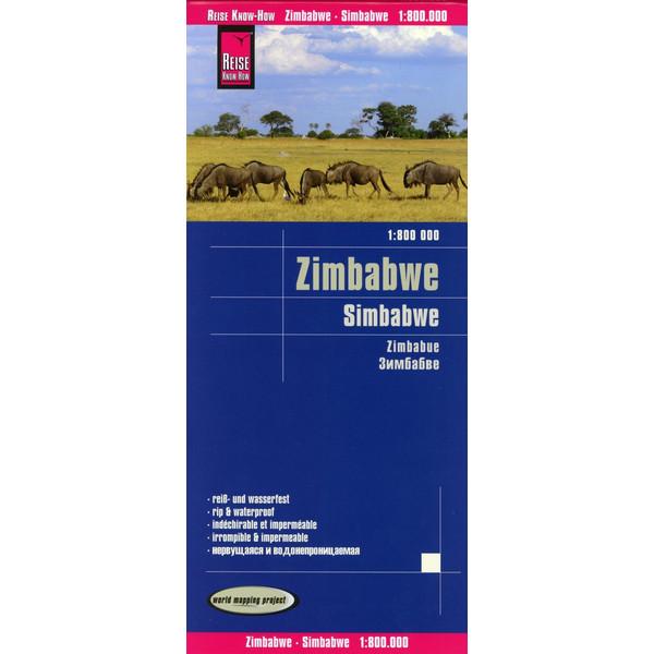 Reise Know-How Landkarte Simbabwe  1 : 800.000 - Straßenkarte