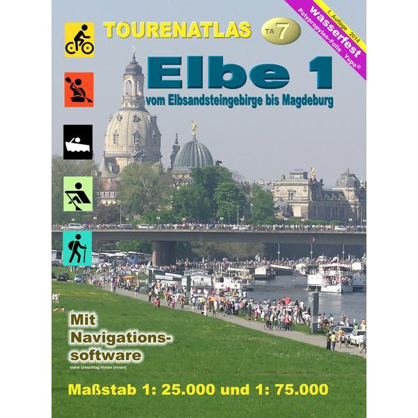 TourenAtlas 07 Elbe-1 Vom Elbsandsteingebirge bis Magdeburg - Fahrradkarte