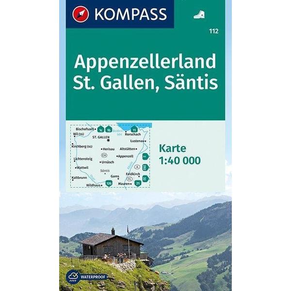 Appenzellerland - St. Gallen - Säntis 1 : 40 000 - Wanderkarte