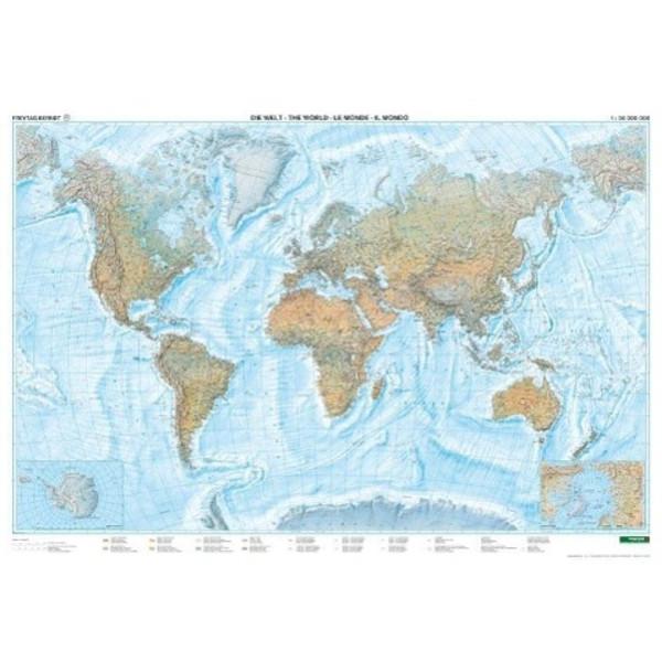 Welt Physisch. Meeresrelief 1 : 25 000 000
