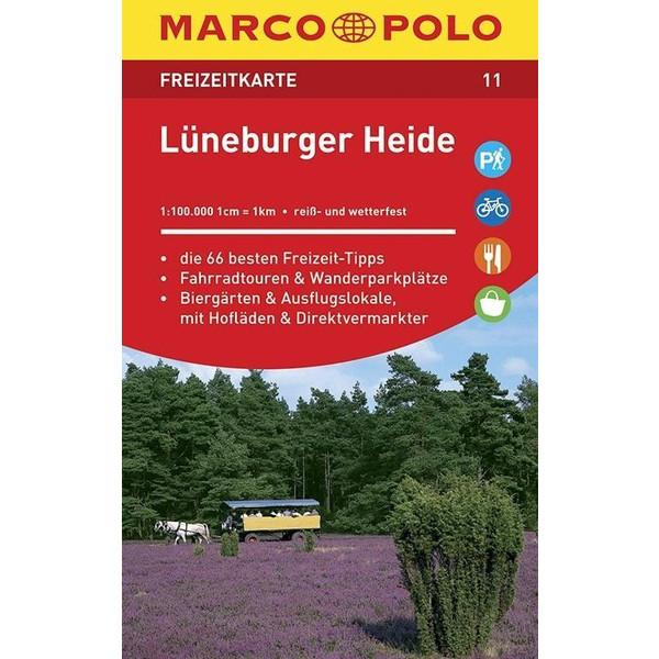 MARCO POLO Freizeitkarte 11 Lüneburger Heide 1 : 100 000 - Straßenkarte