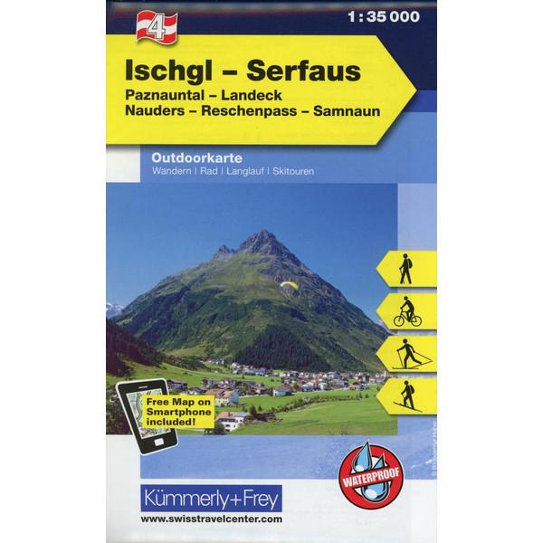 KuF Österreich Outdoorkarte 04 Ischgl - Serfaus 1 : 35 000 - Wanderkarte