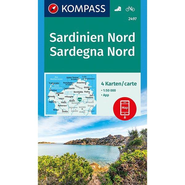 KOKA 2497 SARDINIEN NORD - Wanderkarte
