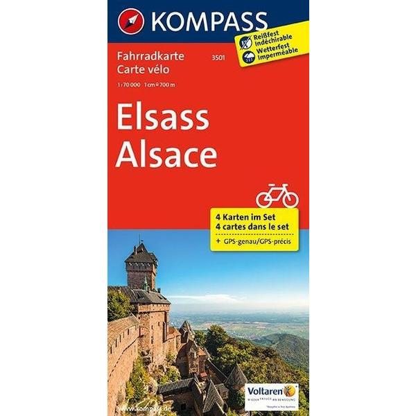 Elsass / Alsace 1 : 70 000 - Fahrradkarte
