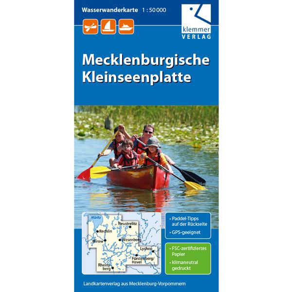 MECKLENBURGISCHE KLEINSEENPLATTE 1:50T - Wasserkarte