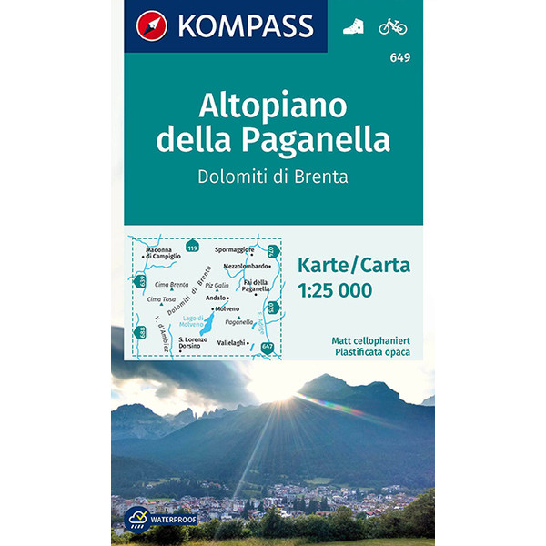 Altopiano della Paganella, Dolomiti di Brenta - Wanderkarte