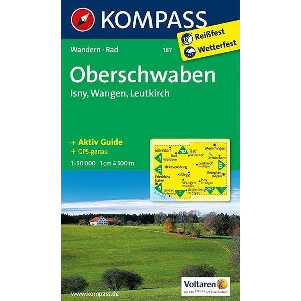 Oberschwaben. Isny, Wangen, Leutkirch.  1 : 50 000 - Wanderkarte