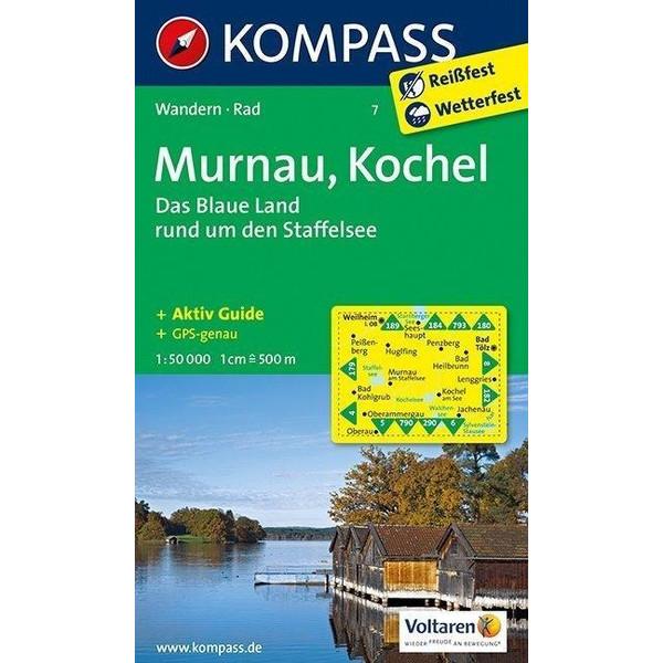 Murnau - Kochel - Das blaue Land rund um den Staffelsee 1 : 50 000 - Wanderkarte