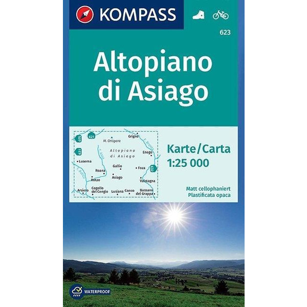 Carta escursionistica n. 623. Altopiano di Asiago 1:25.000. Adatto a GPS. Digital map. DVD-ROM - Wanderkarte