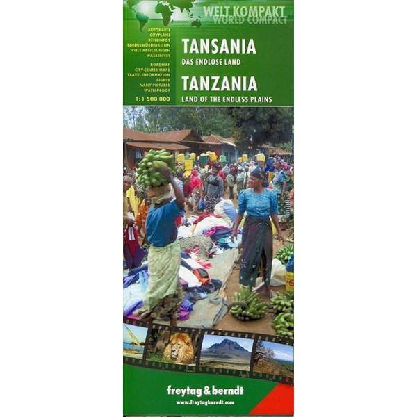 FuB Tansania 1 : 1 500 000 World Compact Series - Straßenkarte
