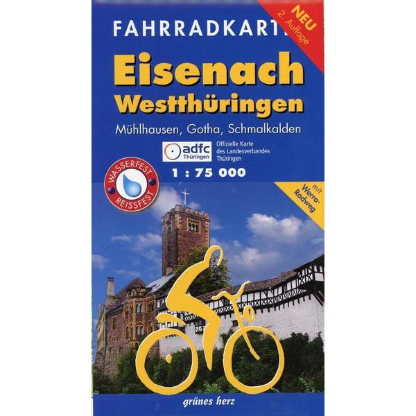 Eisenach Westthüringen Fahrradkarte 1 : 75 000 - Fahrradkarte