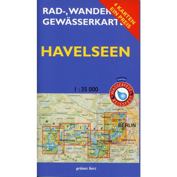 Rad-, Wander- und Gewässerkarten-Set: Havelseen 1 : 35 000 - Fahrradkarte
