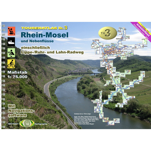 TOURENATLAS WASSERWANDERN 03 RHEIN-MOSEL - Wasserkarte