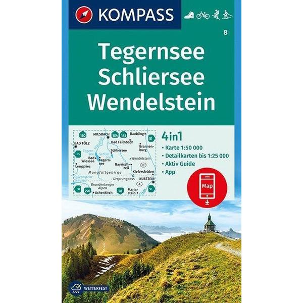 Tegernsee, Schliersee, Wendelstein 1:50 000 - Wanderkarte