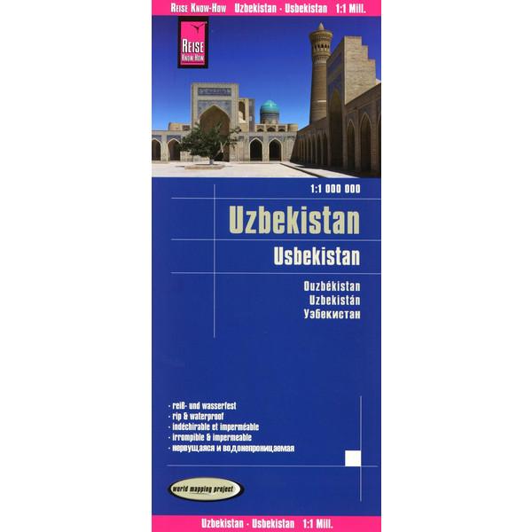 Reise Know-How Landkarte Usbekistan 1 : 1.000.000 - Straßenkarte