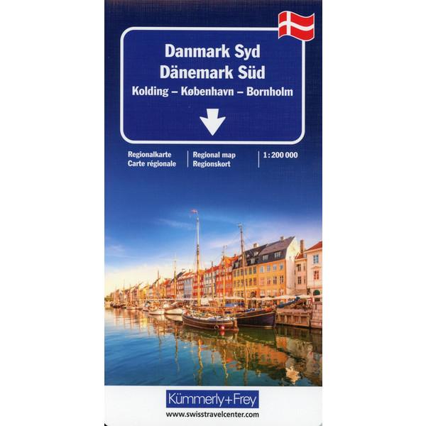 Dänemark Süd Regionalkarte 1 : 200 000 - Straßenkarte