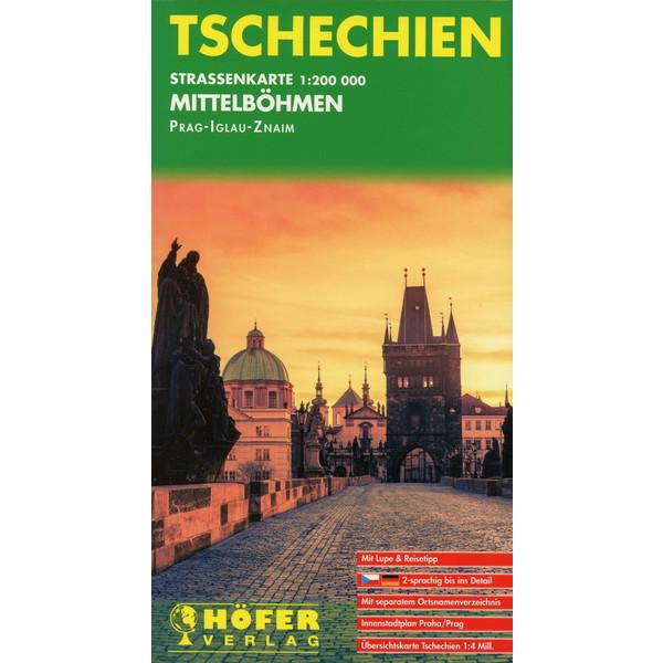 Tschechien - Straßenkarte Mittelboehmen 1 : 200 000 - Straßenkarte