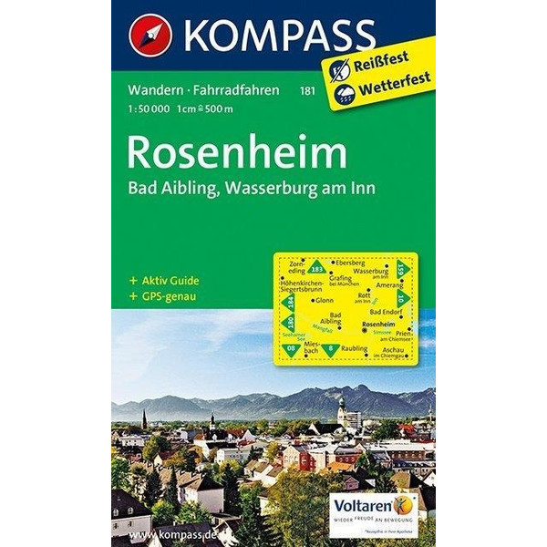 Rosenheim / Bad Aibling / Wasserburg am Inn 1 : 50 000 - Wanderkarte