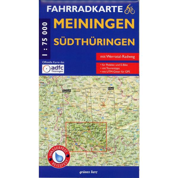 Meiningen Südthüringen Fahrradkarte 1 : 75 000 - Fahrradkarte