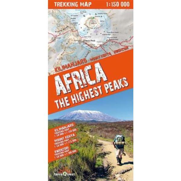 terraQuest Trekking Map Africa - Wanderkarte