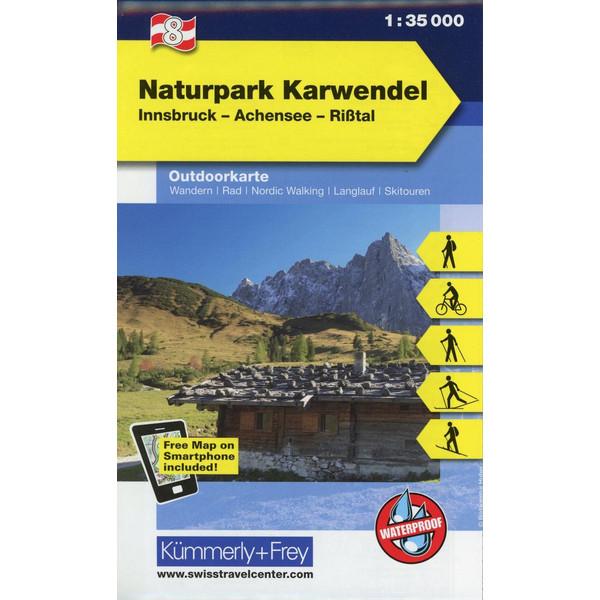 KuF Österreich Outdoorkarte 08 Alpenpark - Karwendel 1 : 35 000 - Wanderkarte